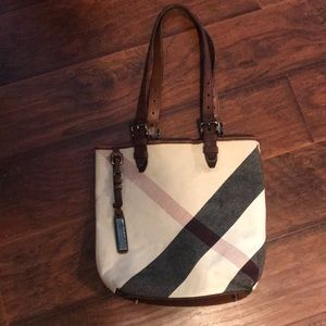 Burberry Brown Mega Check Canvas Victoria Tote Bag